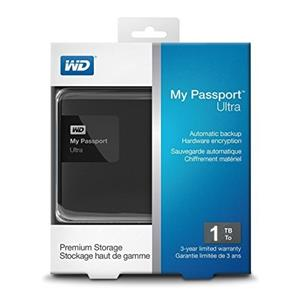 Western Digital My Passport Ultra Premium External Hard Drive 1TB
